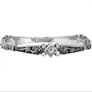 Brighton Zoe Rhinestone Scroll Bangle Bracelet